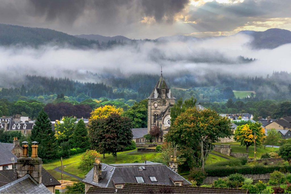 pitlochry viewed from rosemount hotel