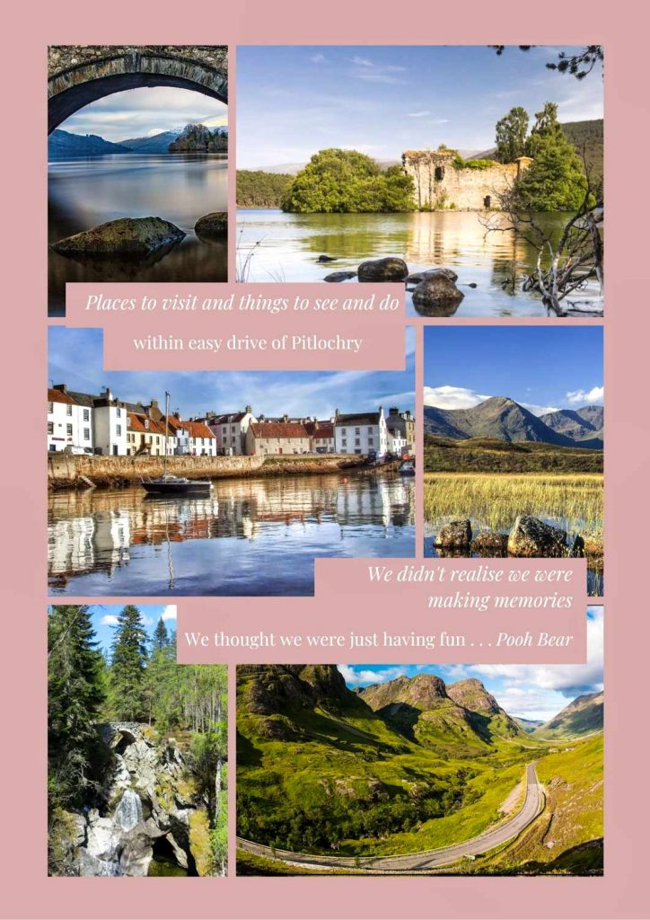places to visit on a Spring break in pitlochry