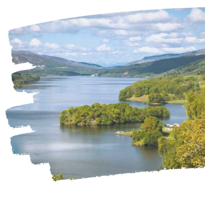Pitlochry accommodation near Queens view